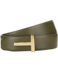 Tom Ford - Leather Reversible Belt - Lyst