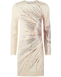 Valentino - Fireworks Embroidered Dress - Lyst
