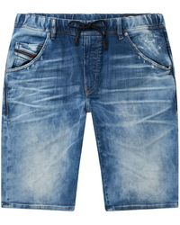 DIESEL - Elasticated Denim Shorts - Lyst
