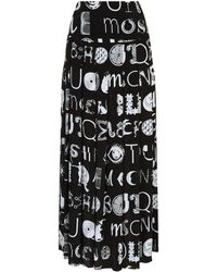 Boutique Moschino - Abstract Logo Maxi Skirt - Lyst