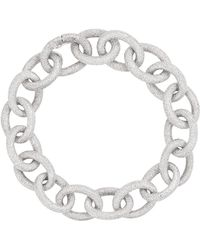 Carolina Bucci - White Gold Florentine Links Bracelet - Lyst