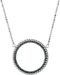 Links of London - Silver And Blue Diamond Effervescence Halo Necklace - Lyst