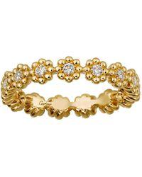 Cartier - Yellow Gold Cactus De Wedding Band - Lyst