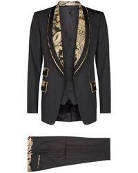 Dolce & Gabbana - Brocade Trim Three-piece Suit - Lyst