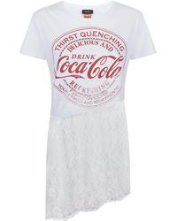 Pinko - Lace Trim T-shirt - Lyst