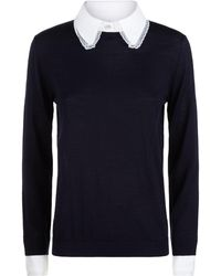 Claudie Pierlot - Lace Trim Sweater - Lyst