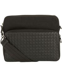 Lyst - Bottega veneta Nero Waxed Leather Soft Caiman Cross Body Bag ... b19f8d4359b0e