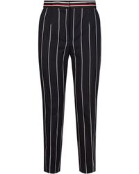 Sandro - Striped Wide-leg Trousers - Lyst