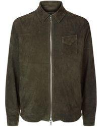 Officine Generale - Suede Zip Jacket - Lyst