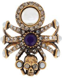 Alexander McQueen - Embellished Spider Ring - Lyst