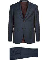 Pal Zileri - Tonal Houndstooth Two-piece Suit - Lyst