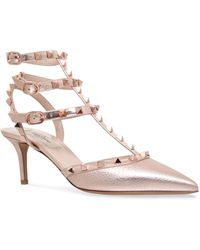 Valentino - Leather Rockstud Pumps 65 - Lyst