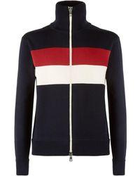 Moncler - Stripe Zip-up Cardigan - Lyst