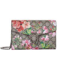 9093f162592bab Gucci Dionysus GG Blooms Mini Bag in Pink - Lyst