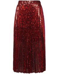Philosophy Di Lorenzo Serafini - Pleated Sequin Skirt - Lyst
