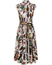 Burberry - Graffiti Archive Scarf Print Shirt Dress - Lyst