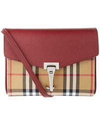 680f32c8816b Lyst - Burberry Alchester Small House Check Cotton   Leather Bowler ...