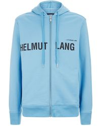Helmut Lang - Zipped Campaign Logo Hoodie - Lyst