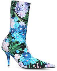 Balenciaga - Floral Knife Boots 110 - Lyst