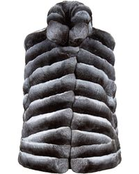 Harrods - Short Chinchilla Gilet - Lyst