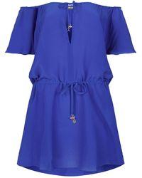Lazul | Desi Silk Cap Sleeve Mini Dress | Lyst
