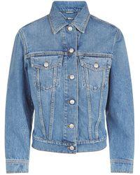 Alexander McQueen - Embroidered Denim Jacket - Lyst