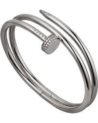 Cartier - White Gold And Diamond Juste Un Clou Bracelet - Lyst