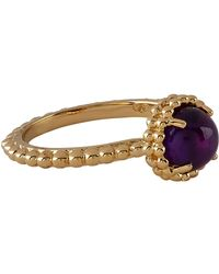 Links of London - Yellow Gold Vermeil Amethyst Effervescence Ring - Lyst