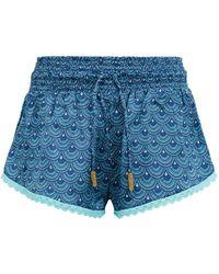 Paloma Blue - Patterned Silk Shorts - Lyst