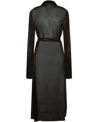 La Mania - Letta Sequin Tie Belt Dress - Lyst
