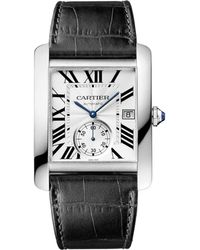 Cartier - Large Stainless Steel Tank Mc Watch 44mm - Lyst