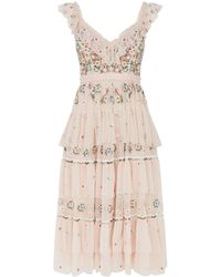 Needle & Thread - Whimsical Tiered Midi Dress - Lyst