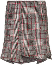 McQ - Zip Check Mini Skirt - Lyst