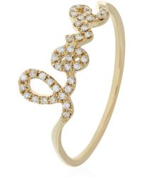 Sydney Evan - Love Script Diamond Ring - Lyst