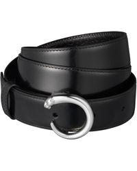 Cartier - Reversible Leather Panthre De Belt - Lyst