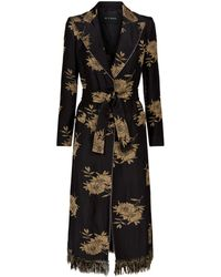 Etro - Floral Jacquard Trench Coat - Lyst