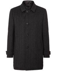 Corneliani - Herringbone Wool Coat - Lyst