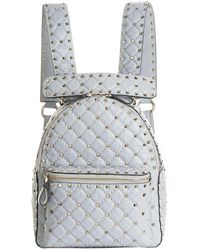 Valentino - Crinkled Leather Rockstud Backpack - Lyst