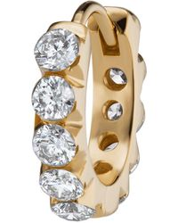 Maria Tash - 8mm Yellow Gold And Diamond Eternity Invisible Set Ring - Lyst