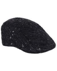 Brunello Cucinelli Sequin-embellished Flat Cap - Black