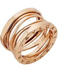 BVLGARI - Rose Gold B.zero1 Legend Ring - Lyst