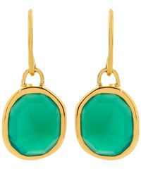 Monica Vinader - Siren Bezel Set Onyx Earrings - Lyst