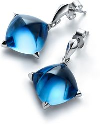 Baccarat - Silver And Crystal Mdicis Stud Earrings - Lyst