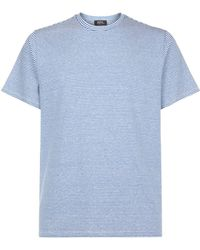 A.P.C. - Jimmy Linen Stripe T-shirt - Lyst