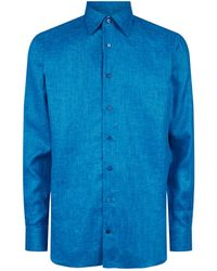 Zilli - Long Sleeve Linen Shirt - Lyst