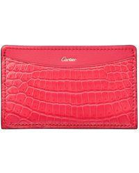 Cartier - C De Crocodile Card Holder - Lyst