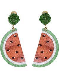 Mercedes Salazar - Watermelon Clip On Earrings - Lyst
