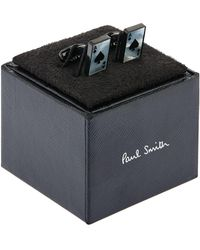 Paul Smith - Ace Of Spades Cufflinks, Silver, One Size - Lyst