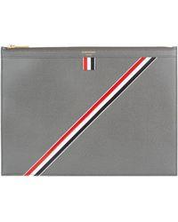 Thom Browne - Medium Leather Stripe Document Holder - Lyst