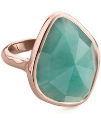 Monica Vinader - Siren Nugget Amazonite Cocktail Ring - Lyst